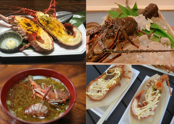 伊勢海老料理の例